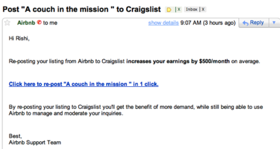 Airbnb to Craigslist - Growth Hack