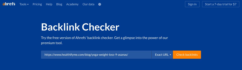 ahrefs backlink checker SEO Tool