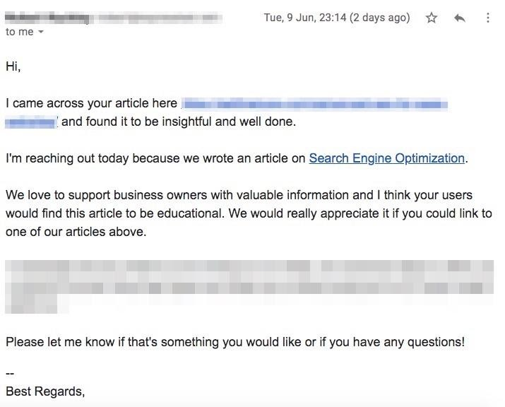 email outreach template