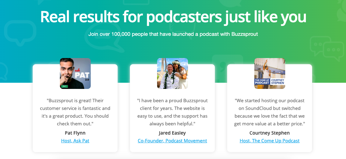 BuzzSprout Customers