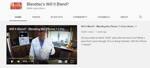Blendtec Viral Video